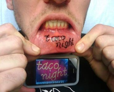 Taco Night! ~ 14 More of the Worst Bad Tattoos