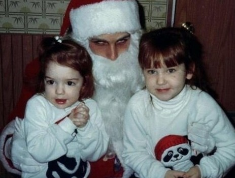 Creepy Santas ~ Awkward Funny Sitting On Santa's Lap Pictures