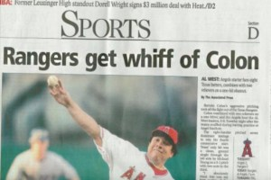 Texas Rangers Get iff of Colon ~ Funny Newspaper Headline Fails
