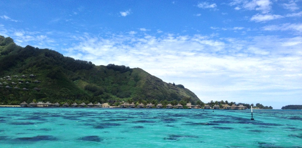 A beautiful view in the Moorea lagoon