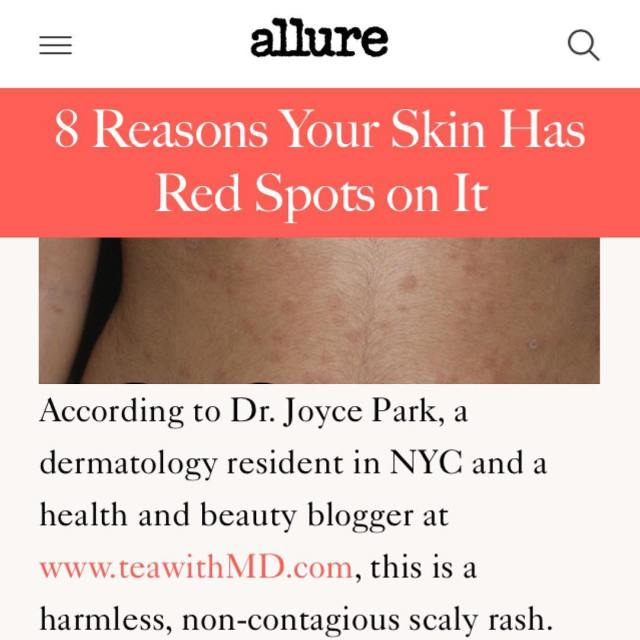Red spots on the skin could refer to a wholehellip