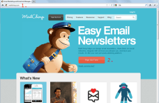Images of Mailchimp Website