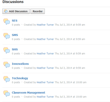 Pictures of Discussion Board on Schoology.com