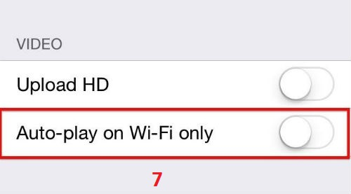 disable auto play video facebook Iphone