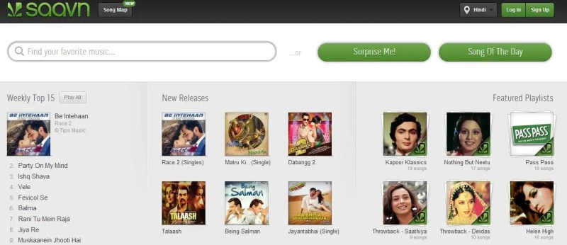 Saavn streaming service