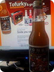 Jones Soda Tofurkey and Gravy Soda Bottle