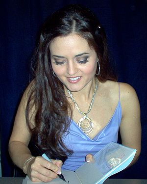 Danica McKellar at a book signing