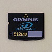 xD flash memory card, type H, 512M, Olympus.