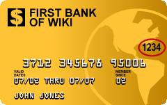 Sample American Express-type credit card featu...