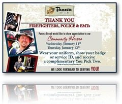 PaneraThankyou thumb Thanks to Panera Bread Pittsburgh for appreciating First Responders