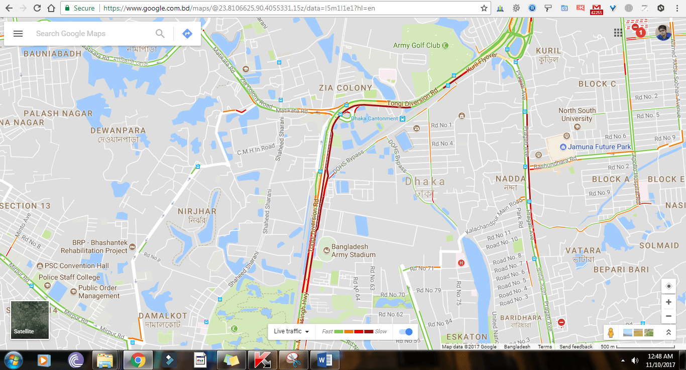Real Time Traffic Update in Bangladesh is LIVE in Google Maps GoogleMapsTrafficUpdate Bangladesh