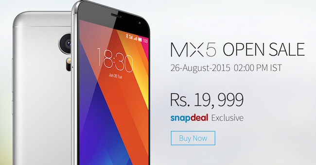 Buy Meizu MX5 in India from Snapdeal