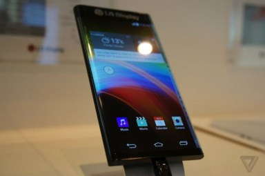 LG curved edge mobile launch