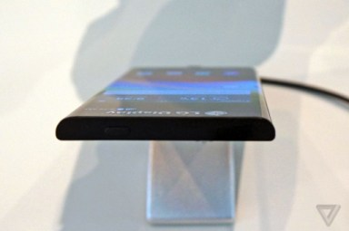 LG curved edge mobile