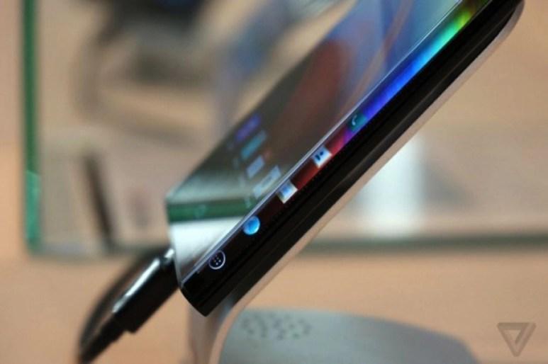 LG curved mobile design