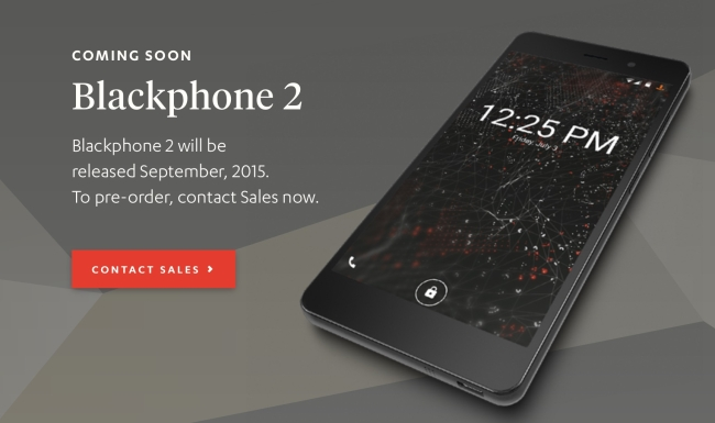 Upgrade or preorder BlackPhone 2