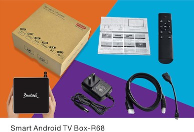 Beelink r68 TV Box included accesories
