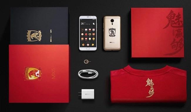 Meizu MX5 Guangzhou Evergrande limited edition red color