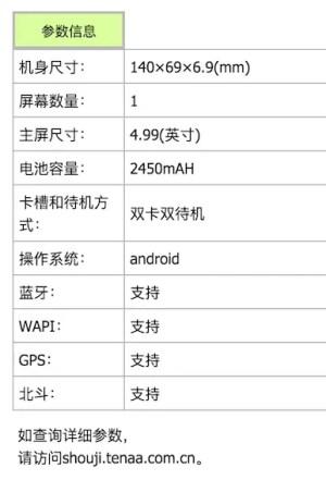 OnePlus X battery information