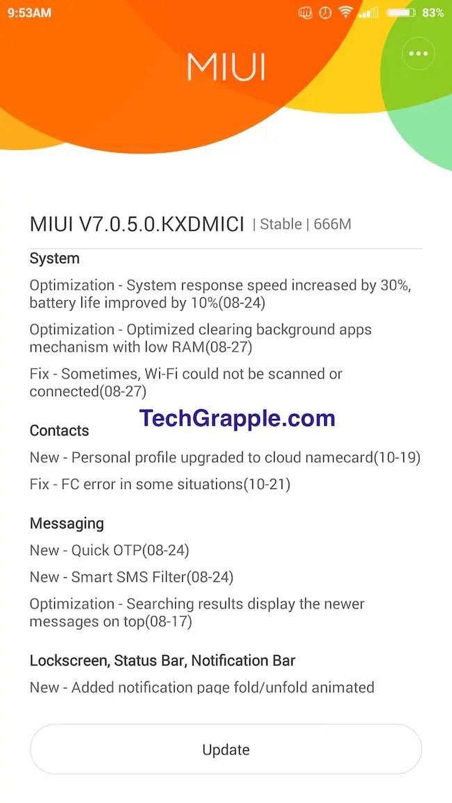 Xiaomi Mi 4 LTE MIUI 7 Update