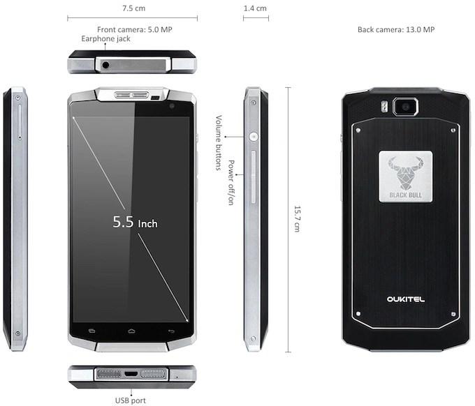 OUKITEL K10000 design