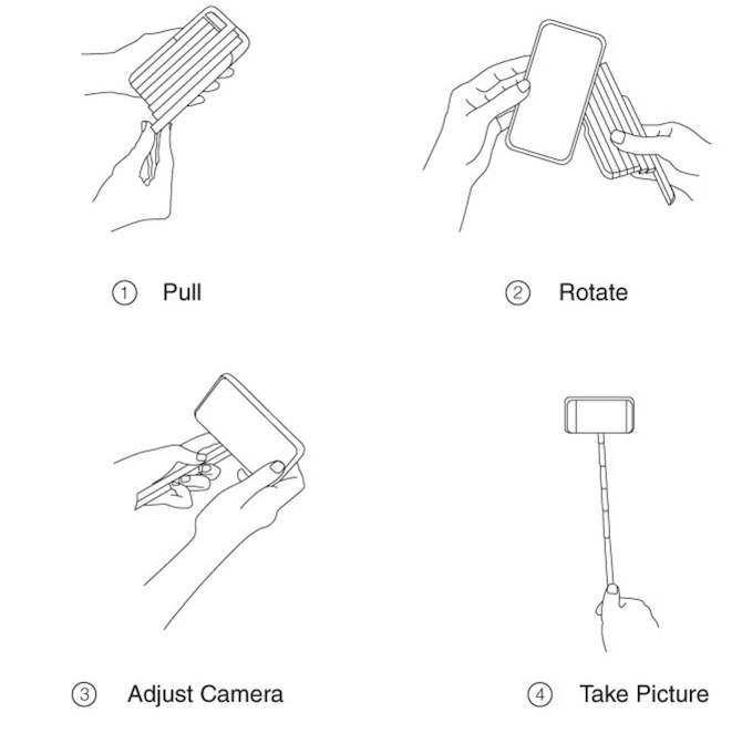 Stickbox selfie stick for iPhone 6s Plus and other models