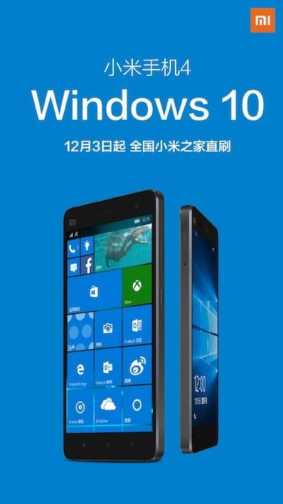 Windows 10 ROM for Mi 4