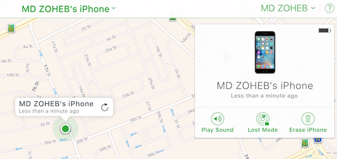 FInd My iPhone Actions