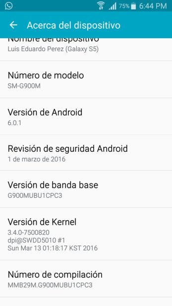 Android Marshmallow update Galaxy S5