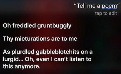 Poem Siri