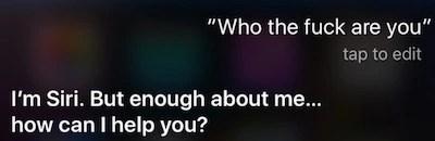 Siri Angry
