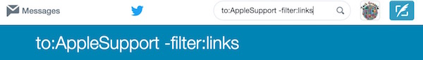 Tweets from users filter links