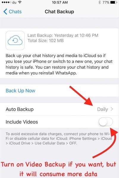 WhatsApp Auto BackUp