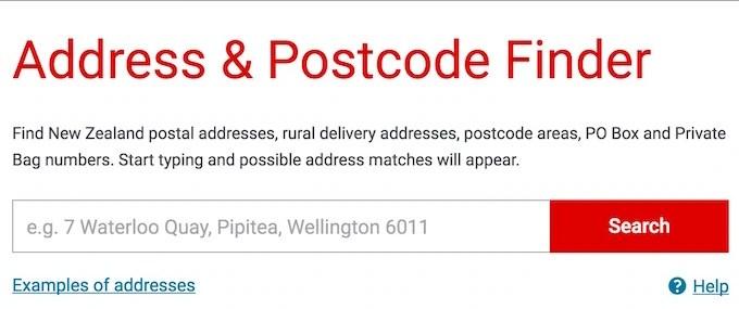 new Zealand Address FInder