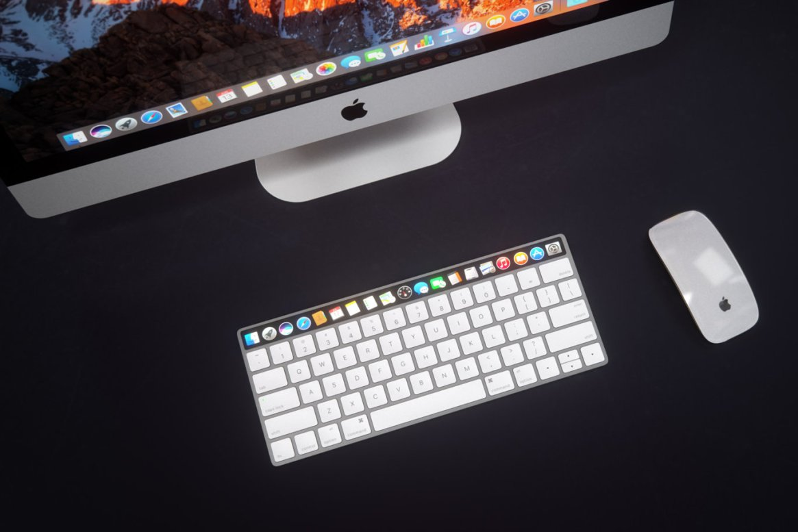 IMAC Keyboard with OLED Touch Bard
