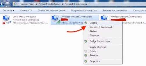Network Disable how