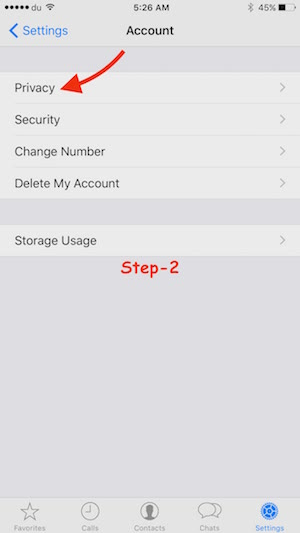 Unblock Contact on WhatsApp iPhone Step 2
