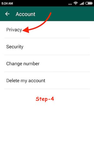 Unblock on WhatsApp Android Step 4