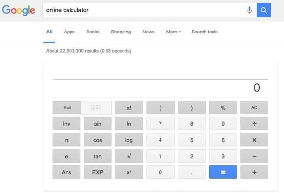 Google Online Calculator
