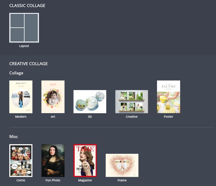 Select Collage mode