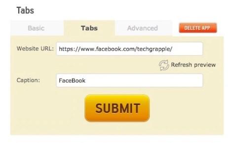 Add tab to app