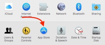 App Store in System Preferces