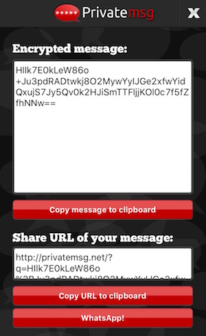 Decrypt password protected message