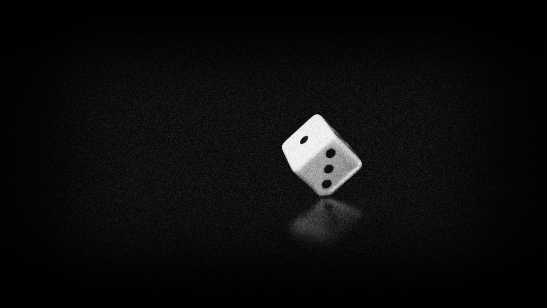 3D dice Black Wallpaper