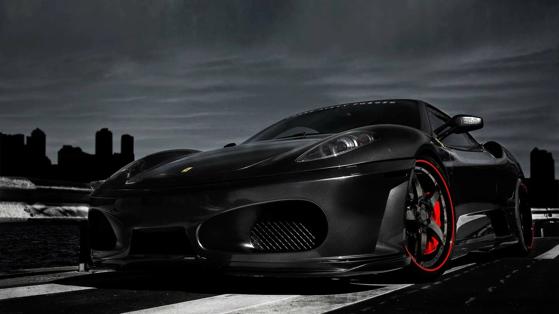 Black ferrari wallpaper