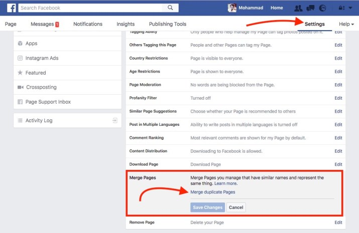 request-facebook-page-merge