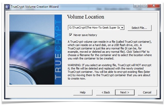 select-volume-location