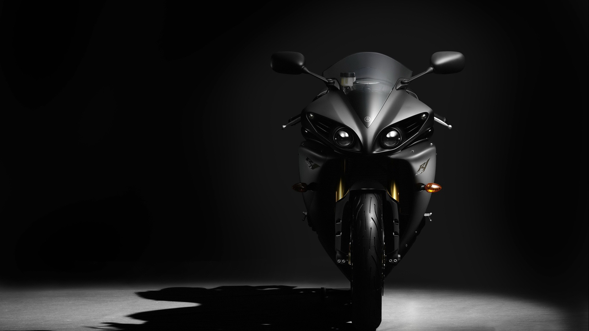 stylish bike Black background