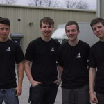 L to R    Josh Owens , Arron Hatcher , Johnny Orme  and Jack Miller  – some of Adlib's current Apprentices