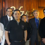 Left to right  Mario Adrin Coelho (Director of Marketing of Vari Internacional); Eugenio de la Mora (Director of Administration, Vari Internacional); Guillermo Traverso (Robe Regional Sales Manager for Latin America); Juan Francisco Alvarez (Sales Manager of Vari Internacional); Ing. Hugo Patio Mayer (CEO and Founder of Vari Internacional) and Hugo Patio Cuellar (Administration Manager Vari International)